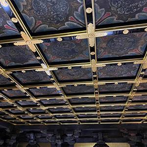阿弥陀堂修復情報 南余間格天井「南余間格天井の修復が完了しました」