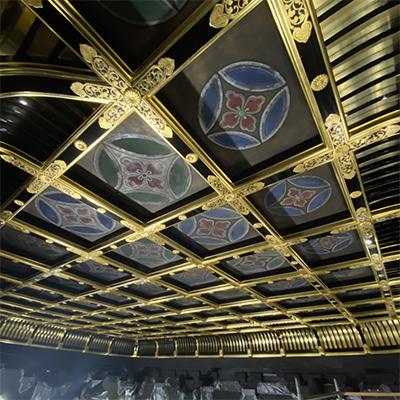 阿弥陀堂修復情報 内陣格天井「内陣格天井の修復が終了しました」